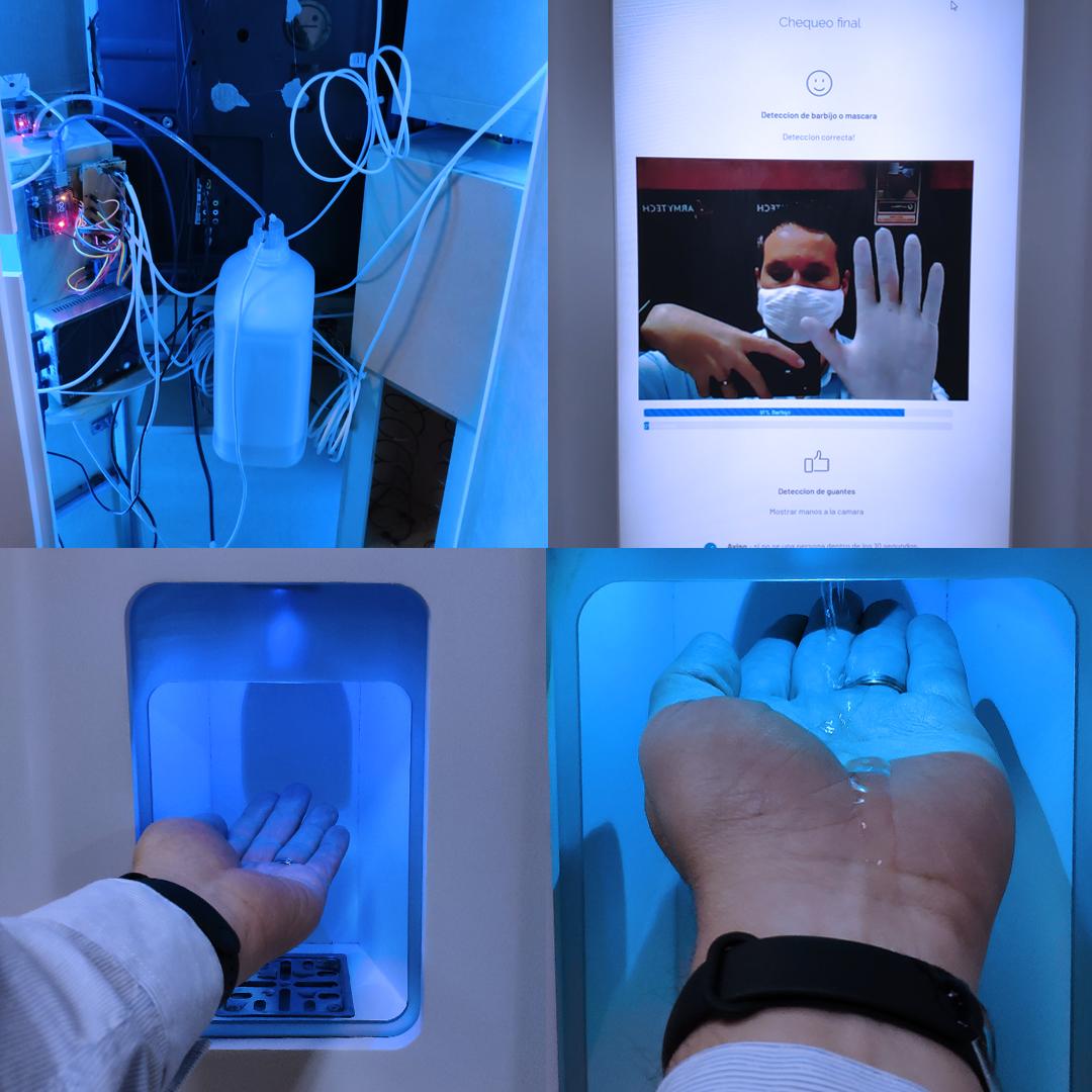 Mindbot combinó triage, IoT y dispendio de EPP en un solo aparato